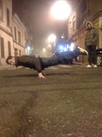 B-boying has been a very important component of my life (here I'm holding myself in planche position)