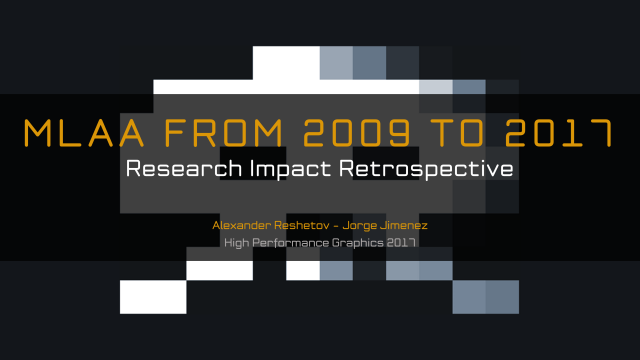 Research Impact Retrospective: MLAA from 2009 to 2017